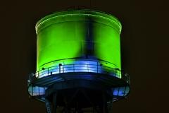 Bochum, Wasserturm bei der Jahrhunderthallo
