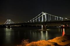 Duisburg, Rheinbrücke nach Krefeld 2