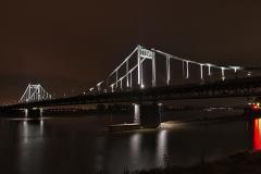 Duisburg, Rheinbrücke nach Krefeld 1